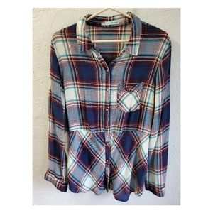 Maurices button up flannel print